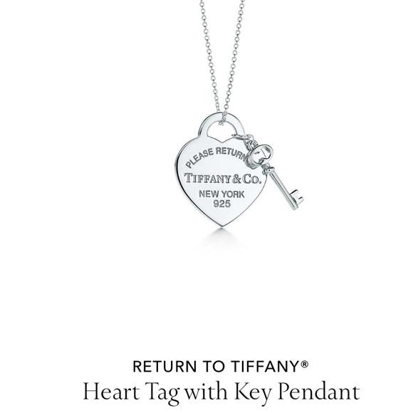 486f0753eb9a Tiffany   co. Heart Tag with Key Pendant. M 5b6c97b64cdc305518b73f4e